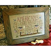 Homespun Elegance - Purely Sampler Collection - Americans Care About Each Other