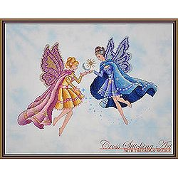 Cross Stitching Art - Day & Night Fairies MAIN
