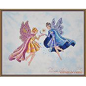 Cross Stitching Art - Day & Night Fairies