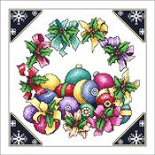 Vickery Collection - Ribbon Wreath and Ornaments THUMBNAIL