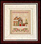Country Cottage Needleworks - Santa's Village - Gingerbread Emporium THUMBNAIL