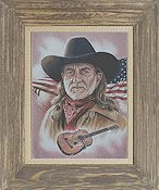Cody Country Cross Stitch - Willie Nelson American Legend THUMBNAIL