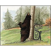The Stitching Studio - Relief Black Bear