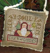 Homespun Elegance - 2013 Santa Ornament - Merry, Merry Soul