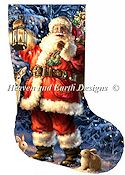 Heaven and Earth Designs - Stocking Woodland Santa THUMBNAIL