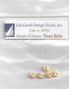 SamSarah Design Studio - Winds of Grace Three Bells Embellishment Pack THUMBNAIL