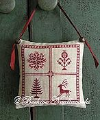 Beehive Needleworks - Holly Trevelyan Christmas Pillow