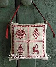 Beehive Needleworks - Holly Trevelyan Christmas Pillow MAIN