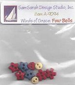 SamSarah Design Studio - Winds of Grace Four Bells Embellishment Pack