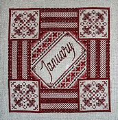 Northern Expressions Needlework - Birthstone Series - January Garnet THUMBNAIL