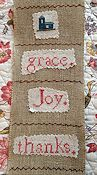 The Sampler Girl - Grace Joy Thanks Eucharisteo