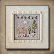 Country Cottage Needleworks - Frosty Forest #2 - Snowy Deer THUMBNAIL