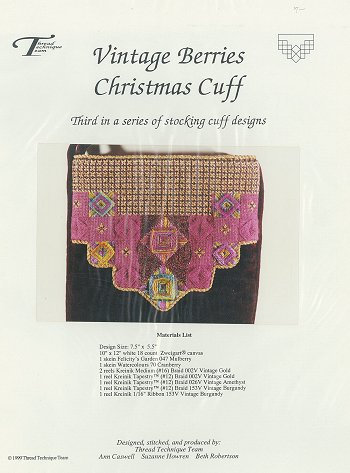 Vintage Berries - Christmas Cuff 3