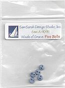 SamSarah Design Studio - Winds of Grace Five Bells Embellishment Pack THUMBNAIL