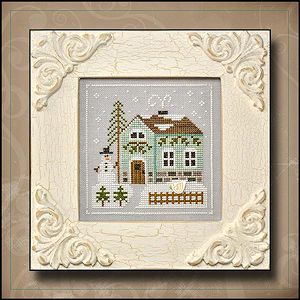 Country Cottage Needleworks - Frosty Forest #3 - Snowman's Cottage MAIN