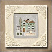 Country Cottage Needleworks - Frosty Forest #3 - Snowman's Cottage THUMBNAIL
