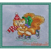 Cross Stitching Art - Winter Joy THUMBNAIL