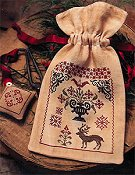 Stacy Nash Primitives - Fancy Winter Sewing Bag & Scissor Fob THUMBNAIL