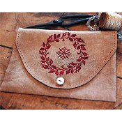Stacy Nash Primitives - Redwork Snowflake Sewing Bag