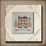 Country Cottage Needleworks - Frosty Forest #5 - Bluebird Cabin THUMBNAIL