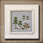 Country Cottage Needleworks - Frosty Forest #6 - Snowy Foxes THUMBNAIL