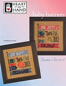 Heart In Hand Needleart - Baby Banners