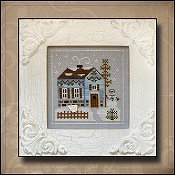 Country Cottage Needleworks - Frosty Forest #7 - Snowgirl's Cottage THUMBNAIL