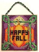 Frony Ritter Designs - Happy Fall Pumpkin Ornament