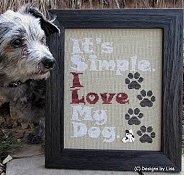 Designs By Lisa - I Love My Dog THUMBNAIL