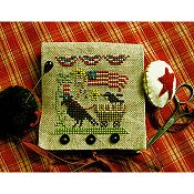 Homespun Elegance - Country Spirits Collection - Uncle Sam Crow Needle Case & Scissor Fob THUMBNAIL