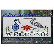 MarNic Designs - Blue Heron Welcome THUMBNAIL