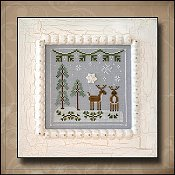 Country Cottage Needleworks - Frosty Forest #8 - Snowy Reindeer THUMBNAIL
