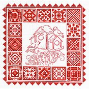 Imaginating - Redwork Quilt 2884