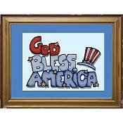 Cody Country Cross Stitch - God Bless