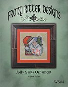 Frony Ritter Designs - Jolly Santa Ornament