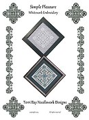 Terri Bay Needlework Designs - Simple Pleasure Whitework Embroidery