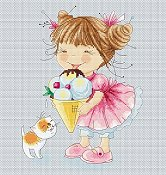 Lena Lawson Needlearts - Ice Cream for Kitty THUMBNAIL