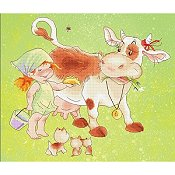 Lena Lawson Needlearts - Give a Cow a Pancake THUMBNAIL