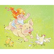 Lena Lawson Needlearts - Pig Race THUMBNAIL