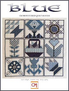 Carolyn Manning Designs - Blue Cross Stitched Quilt Blocks MAIN