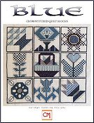 Carolyn Manning Designs - Blue Cross Stitched Quilt Blocks THUMBNAIL