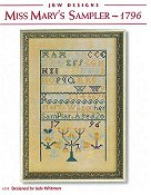 JBW Designs - Miss Mary's Sampler - 1796