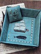 Stacy Nash Primitives - Whaling Ship Sewing Tray & Pinkeep