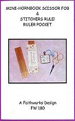 Faithwurks Designs - Mini Hornbook Scissor Fob & Ruler Pocket_THUMBNAIL