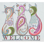 MarNic Designs - Paisley Cat Welcome THUMBNAIL