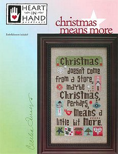 Heart In Hand Needleart - Christmas Means More MAIN