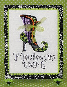 Sue Hillis Designs - Post Stitches - Witch's Shoes (PS175) MAIN