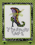 Sue Hillis Designs - Post Stitches - Witch's Shoes (PS175)