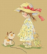 Lena Lawson Needlearts - Sarah's New Dog - Come With Me THUMBNAIL