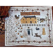 Stacy Nash Primitives - Houses of Berry's Chapel Road - Turkey Hollow Farm THUMBNAIL